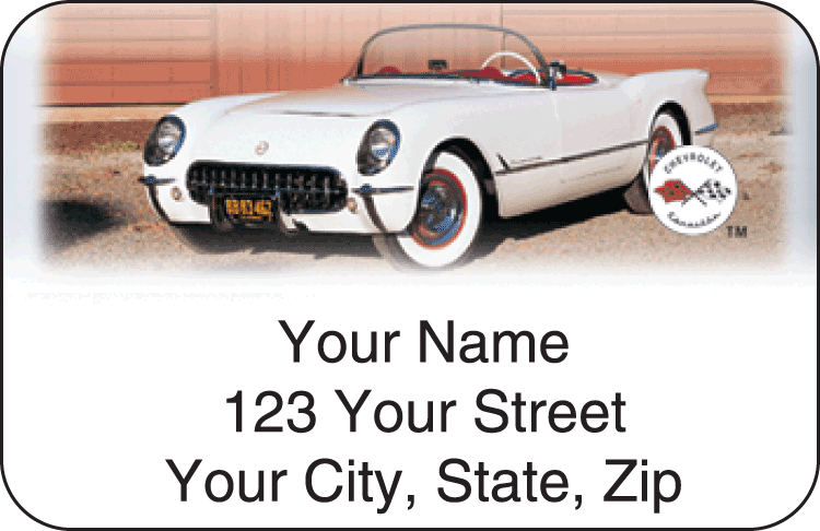 Corvette History Address Labels - click to preview