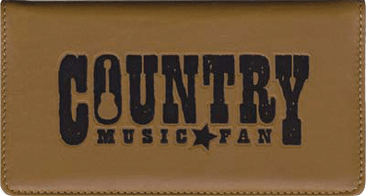 Country Music Leather Checkbook Cover