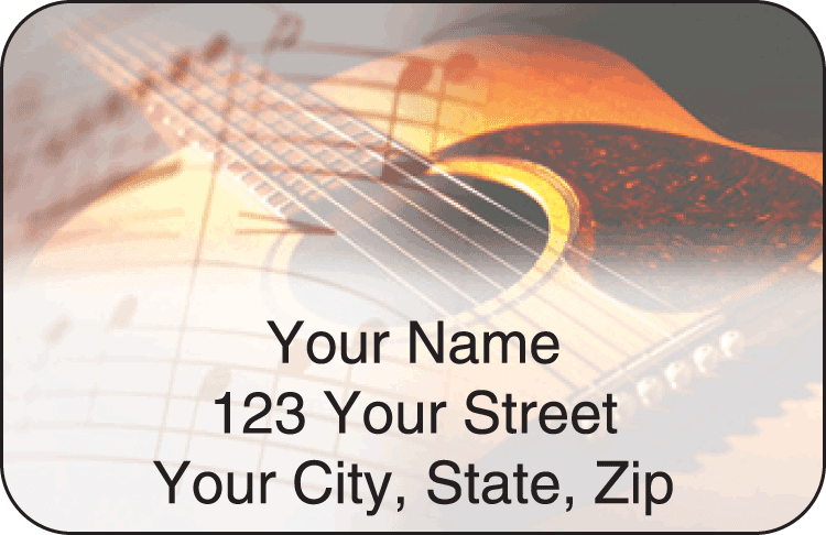 country music address labels - click to preview