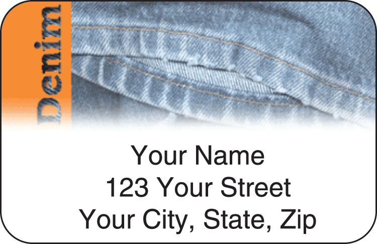 Denim Address Labels