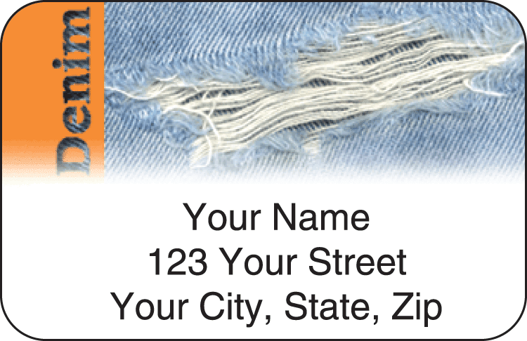 Denim Address Labels - click to preview