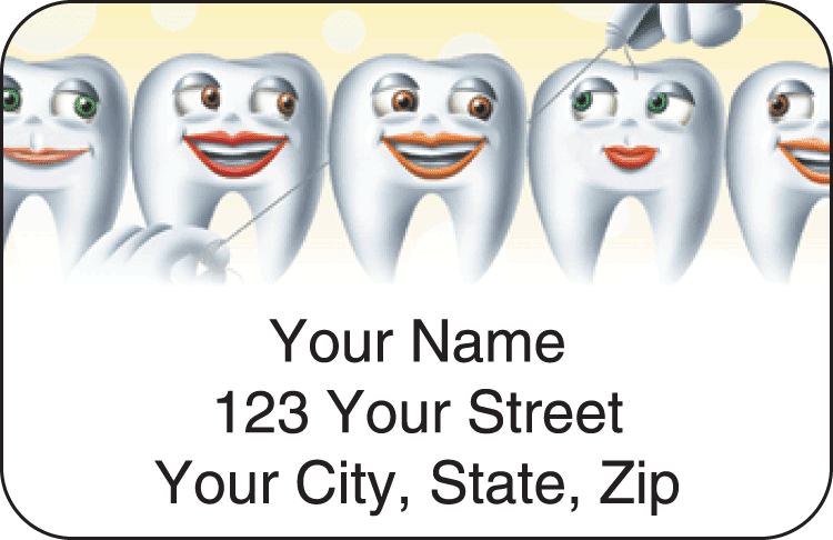 Dental Address Labels - click to view larger image