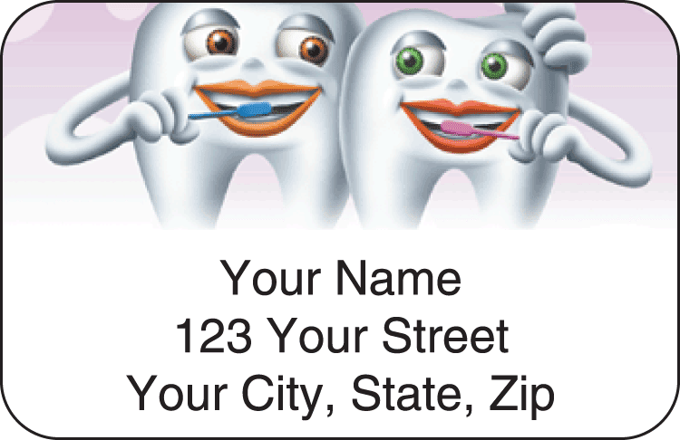 dental address labels - click to preview