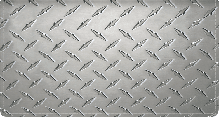 Diamond Plate Fabric Checkbook Cover