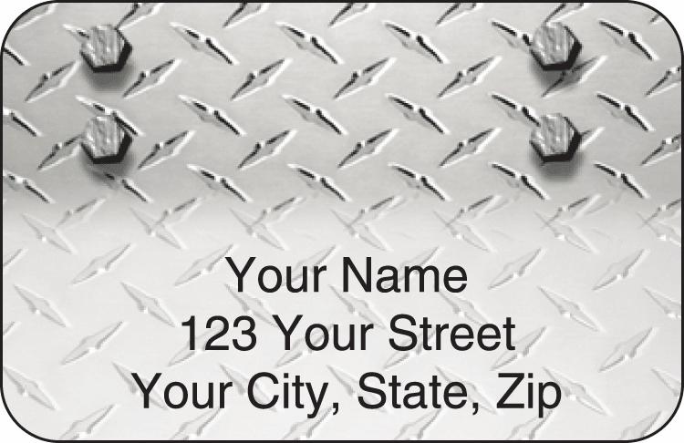Diamond Plate Address Labels