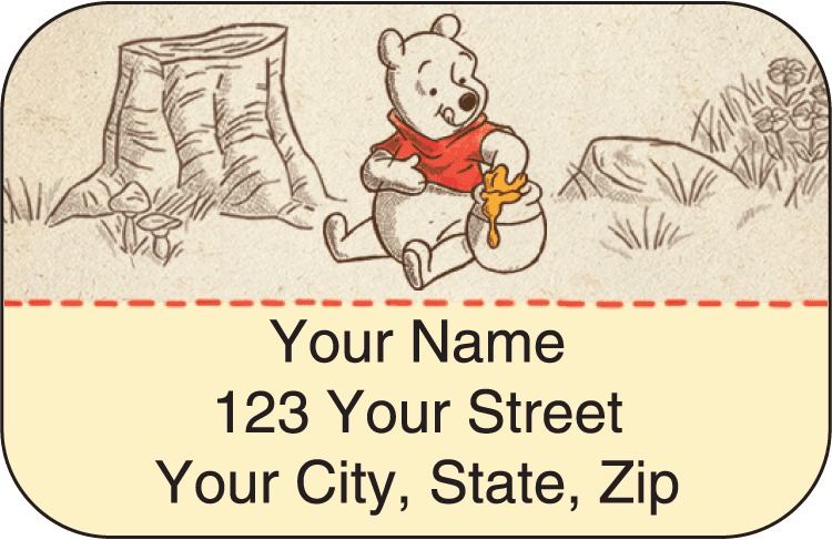 Disney Pooh & Friends Address Labels - click to view larger image