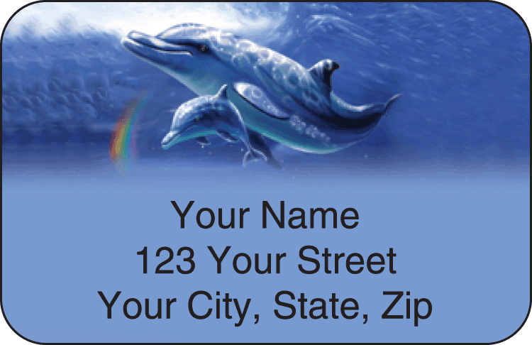 Dolphins Address Labels - click to preview