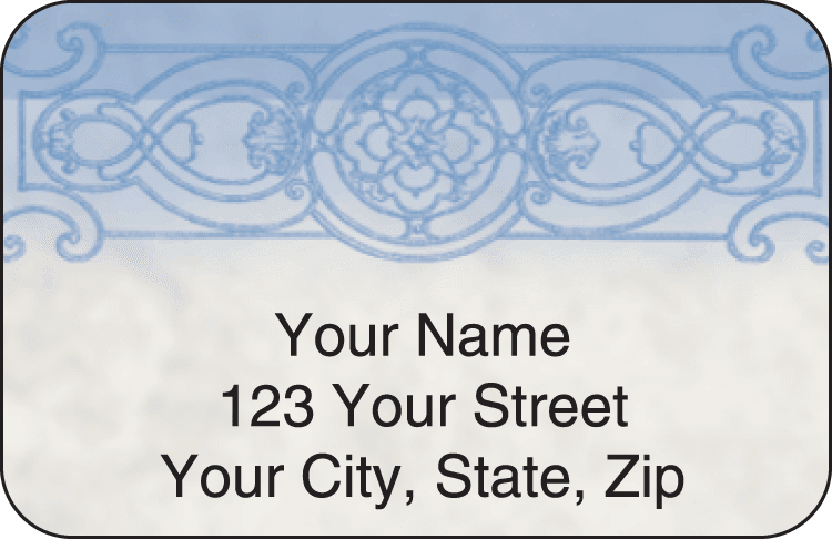 filigree address labels - click to preview