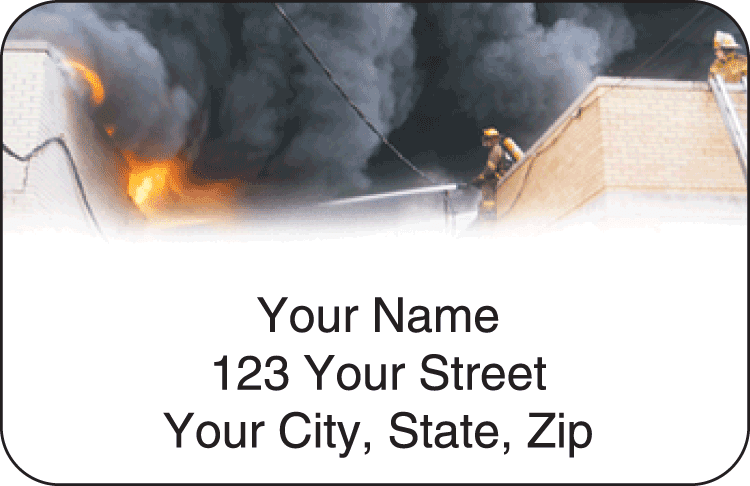 Fire & Rescue Address Labels - click to view larger image