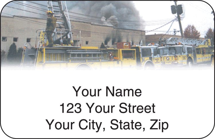 fire & rescue address labels - click to preview
