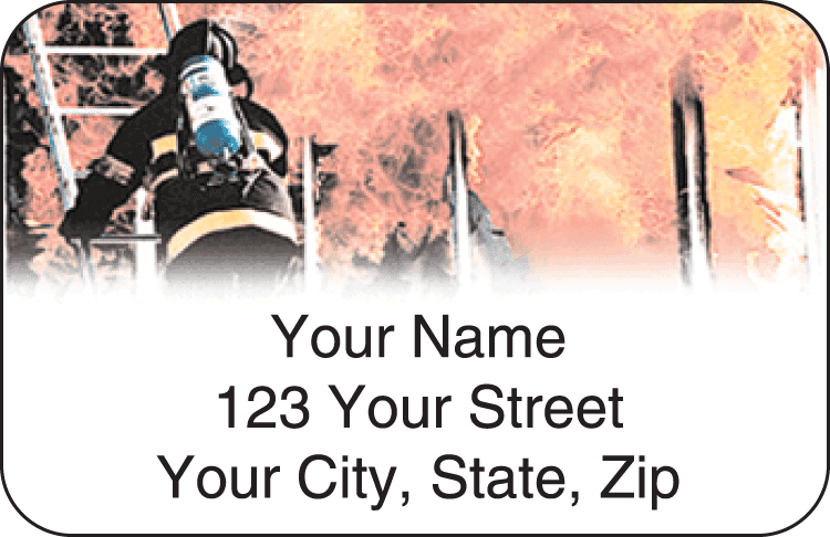 Firefighter Address Labels - click to view larger image