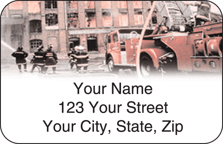 firefighter address labels - click to preview