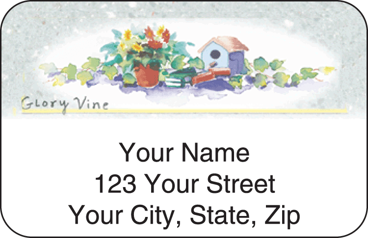 Garden Shed Address Labels - click to preview