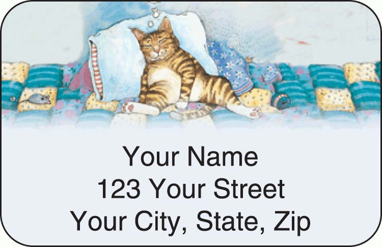 Gary Patterson Cats Address Labels - click to preview