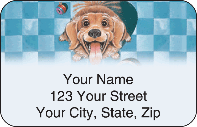 gary patterson dogs address labels - click to preview