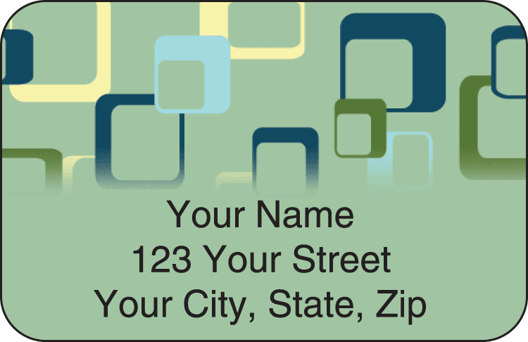 Geometric Address Labels - click to view larger image