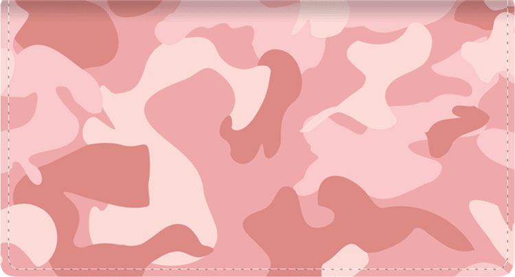 Girly Camo Leather Checkbook Cover