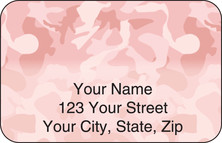 Girly Camo Address Labels - click to view larger image