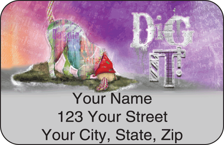 good dog address labels - click to preview