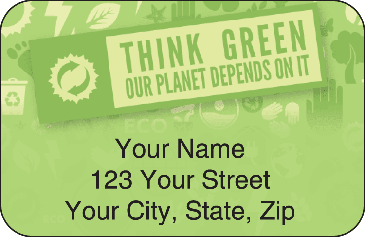 Green Routine Address Labels - click to preview