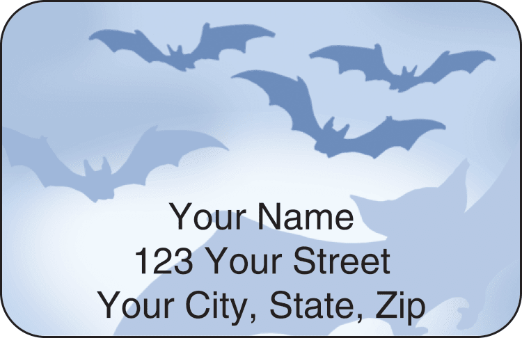 halloween address labels - click to preview