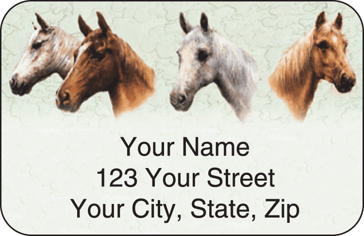 Horses Address Labels - click to view larger image