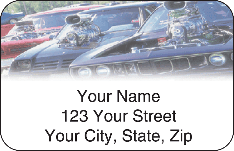 Hot Rod Address Labels - click to view larger image