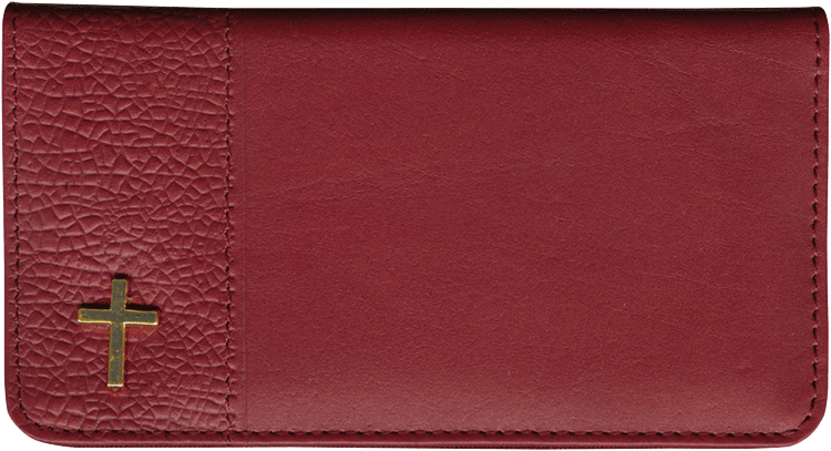 Inspirations Leather Checkbook Cover
