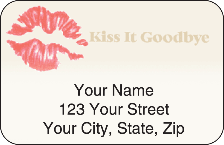 kiss it goodbye address labels - click to preview