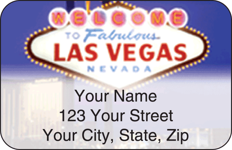 Las Vegas Address Labels - click to view larger image