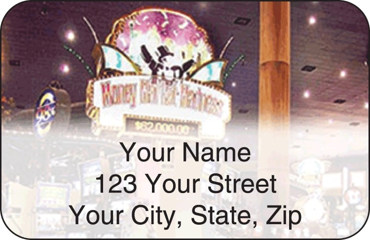 las vegas address labels - click to preview