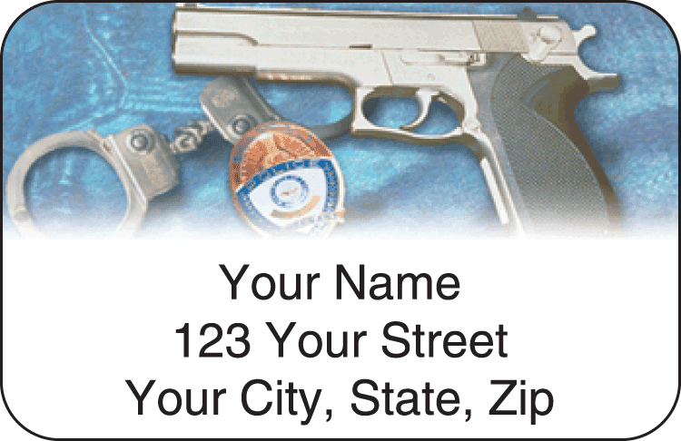 law enforcement address labels - click to preview