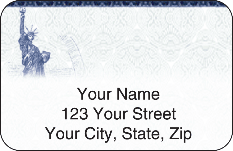 Liberty Address Labels - click to preview