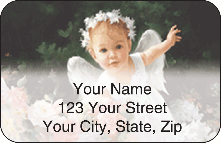 li'l angels address labels - click to preview