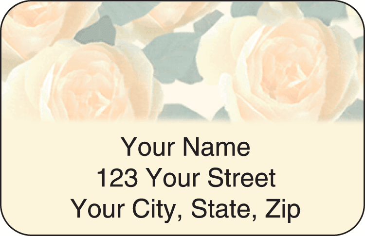 majestic rose address labels - click to preview