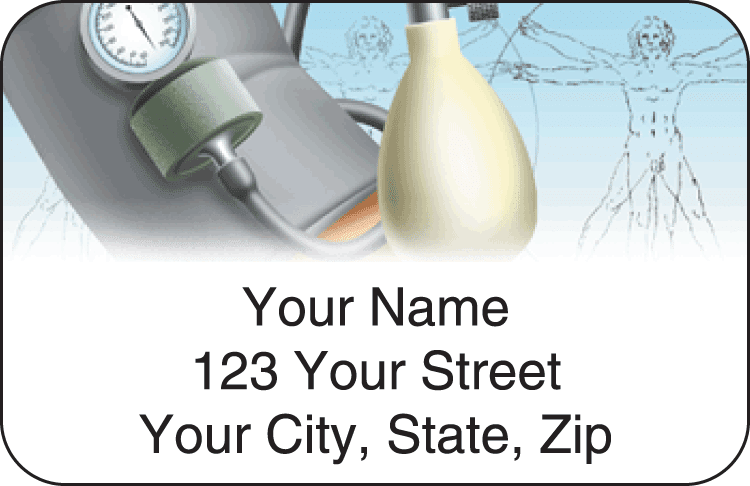 medical address labels - click to preview