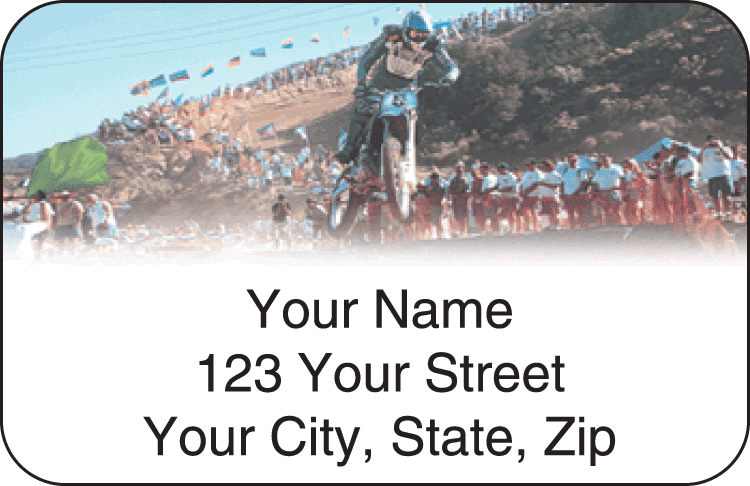 MX Dirt Bike Address Labels - click to view larger image