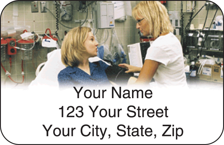 Nursing Values Address Labels - click to preview