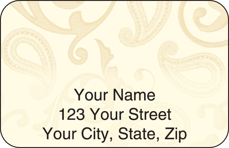 Paisley Address Labels - click to view larger image