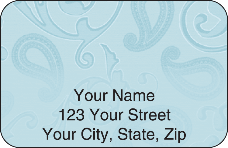 Paisley Address Labels - click to preview