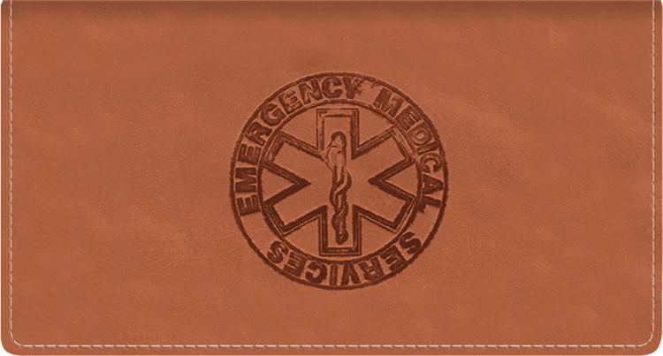 Paramedic Leather Checkbook Cover - click to view larger image