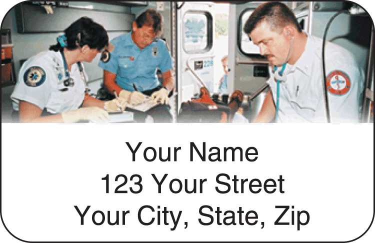 paramedic address labels - click to preview