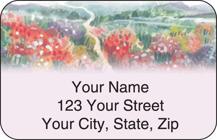 Pastel Gardens Address Labels