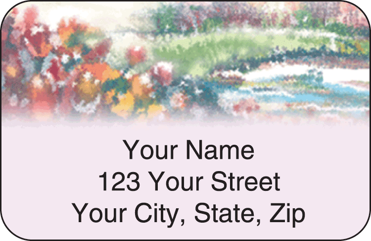 Pastel Gardens Address Labels - click to preview