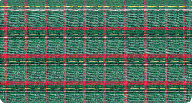 Pay It With Plaid Fabric Checkbook Cover - click to view larger image