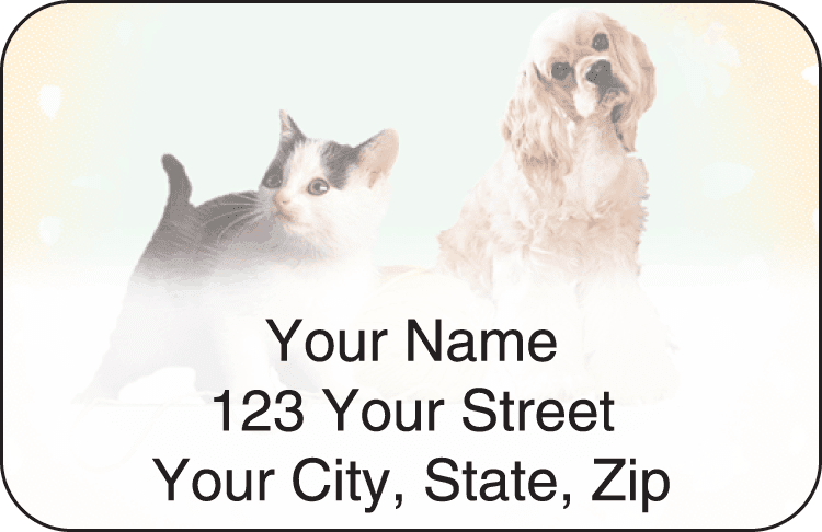 Pet Pals Address Labels - click to view larger image