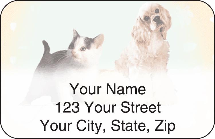 Pet Pals Address Labels