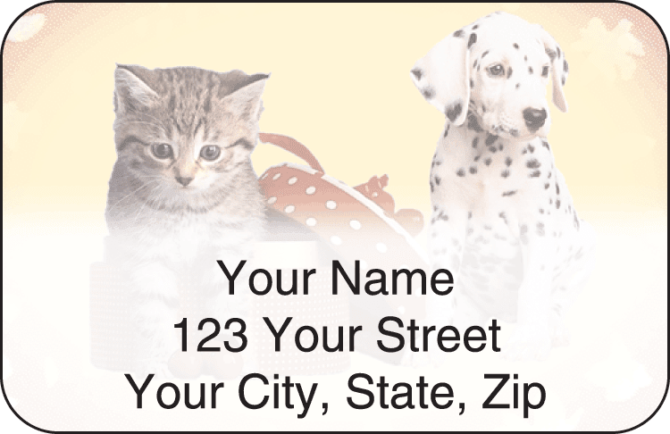 Pet Pals Address Labels - click to preview