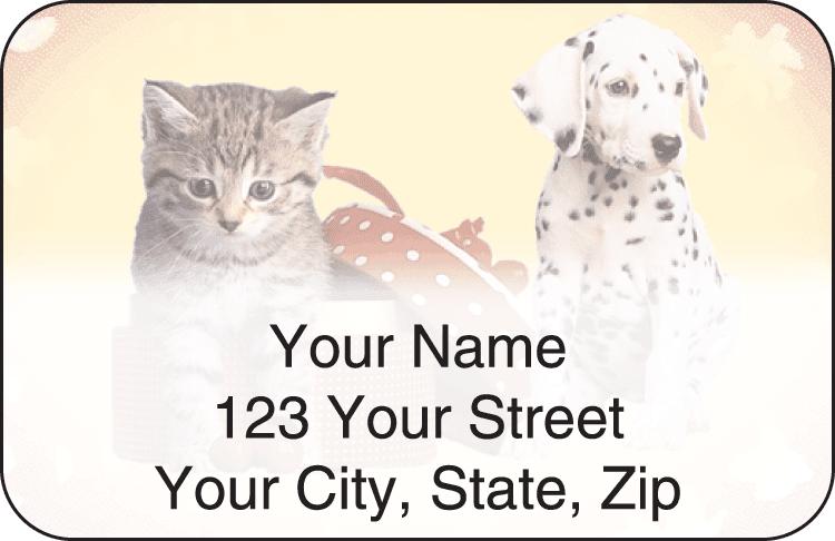 pet pals address labels - click to preview