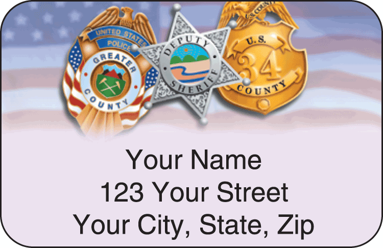 Police Address Labels - click to view larger image